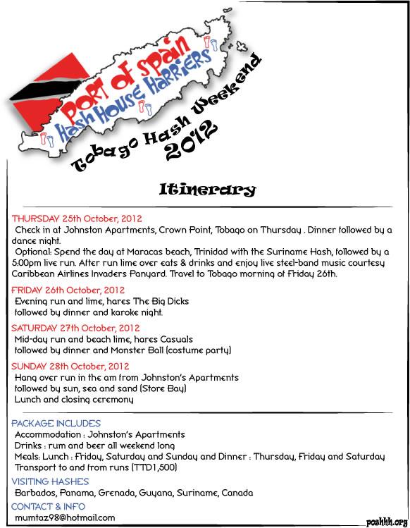 Tobago hash 2012 itinerary port of spain hash house harriers posh3 tobago hash 2012 itinerary freerunsca Choice Image